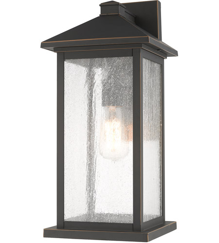 Z-Lite 531MXL-ORB Portland 1 Light 18 inch Oil Rubbed Bronze Outdoor Wall Sconce photo