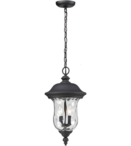 Z-Lite 533CHB-BK Armstrong 3 Light 12 inch Black Outdoor Chain Light photo