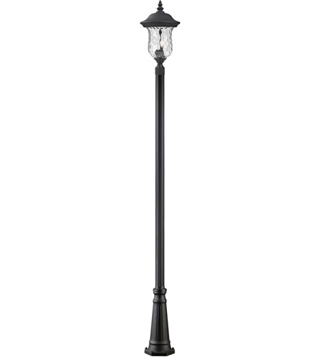 Z-Lite Armstrong 3 Light Outdoor Post Light in Black 533PHB-519P-BK photo