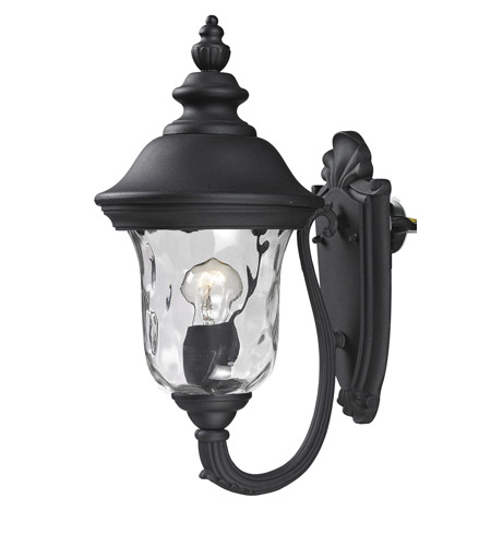 Z-Lite 533S-BK Armstrong 1 Light 16 inch Black Outdoor Wall Sconce photo