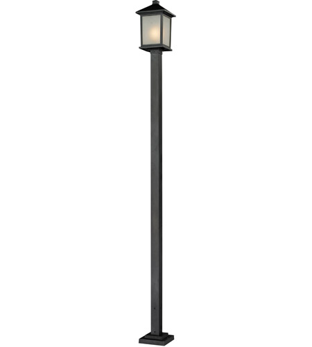 Z-Lite 537PHB-536P-BK Holbrook 1 Light 112 inch Black Outdoor Post photo