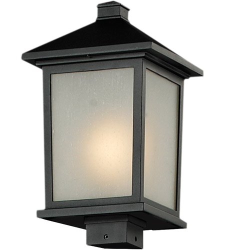 Z-Lite 537PHB-BK Holbrook 1 Light 17 inch Black Outdoor Post photo