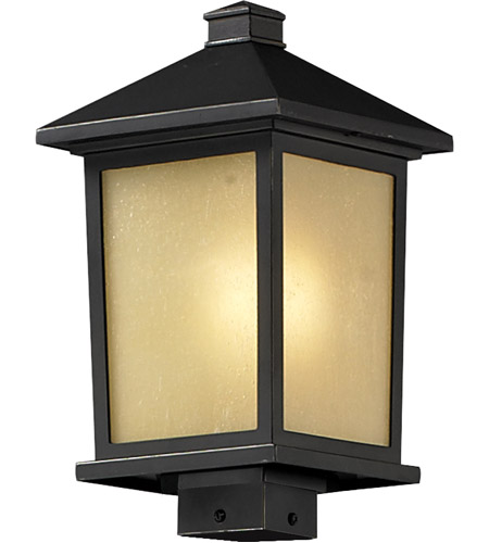 Z-Lite 537PHB-ORB Holbrook 1 Light 17 inch Oil Rubbed Bronze Outdoor Post photo