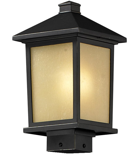 Z-Lite Holbrook 1 Light Outdoor Post Light in Oil Rubbed Bronze 537PHM-ORB photo