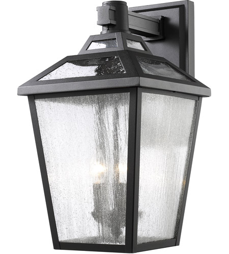 Z-Lite 539B-BK Bayland 3 Light 20 inch Black Outdoor Wall Sconce photo