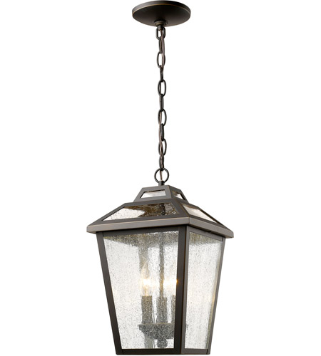 zlite 539chmorb bayland 3 light 9 inch oil rubbed bronze outdoor chain light
