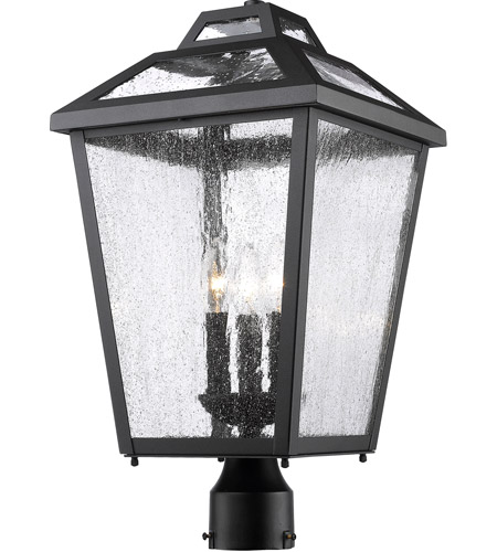 Z-Lite 539PHBR-BK Bayland 3 Light 21 inch Black Outdoor Post Mount Fixture photo
