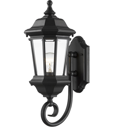 Z-Lite 540M-BK Melbourne 1 Light 20 inch Black Outdoor Wall Sconce photo