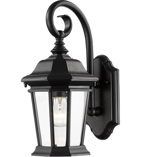 Z Lite 541m Bk Melbourne 1 Light 16 Inch Black Outdoor Wall Sconce