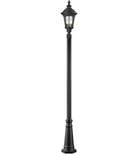 Z-Lite 545PHB-519P-BK Medow 4 Light 120 inch Black Outdoor Post photo