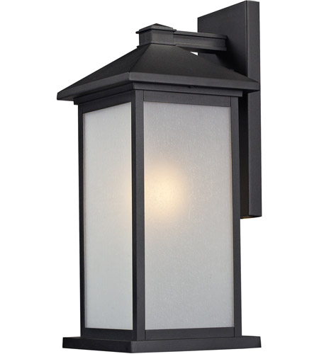 Z-Lite 547B-BK Vienna 1 Light 22 inch Black Outdoor Wall Sconce photo
