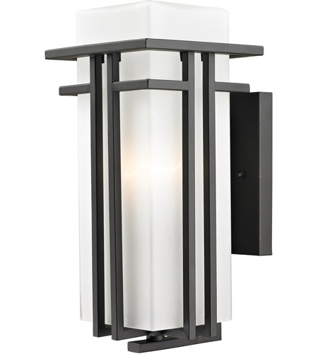 Z-Lite 550M-ORBZ Abbey 1 Light 15 inch Outdoor Rubbed Bronze Outdoor Wall Sconce photo