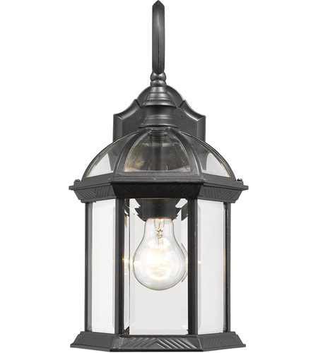 Z-Lite 563M-BK Annex 1 Light 16 inch Black Outdoor Wall Sconce photo