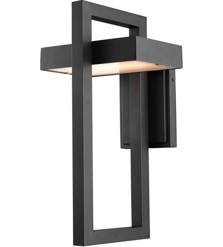 Z-Lite 566B-BK-LED Luttrel LED 18 inch Black Outdoor Wall Sconce photo