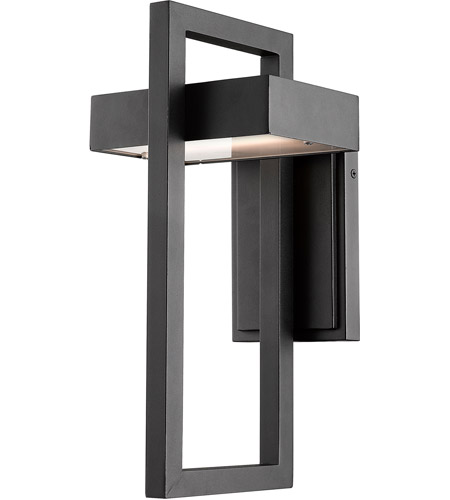 Z-Lite 566M-BK-LED Luttrel LED 15 inch Black Outdoor Wall Sconce photo