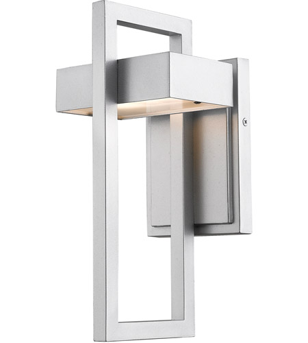 Z-Lite 566S-SL-LED Luttrel 1 Light 12 inch Silver Outdoor Wall Sconce photo thumbnail