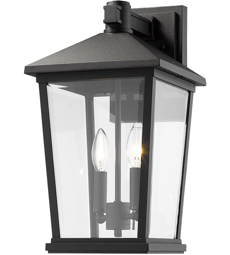 Z-Lite 568B-BK Beacon 2 Light 18 inch Black Outdoor Wall Sconce photo
