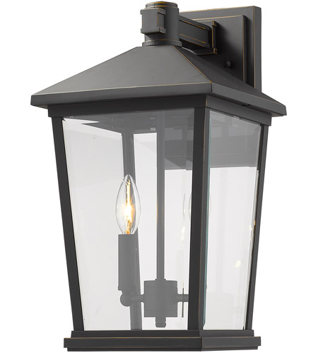Z-Lite 568B-ORB Beacon 2 Light 18 inch Oil Rubbed Bronze Outdoor Wall Sconce photo