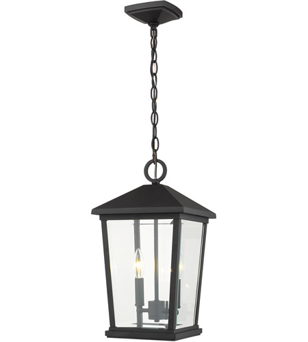 Z-Lite 568CHB-BK Beacon 2 Light 10 inch Black Outdoor Pendant photo