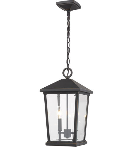 Z-Lite 568CHB-ORB Beacon 2 Light 10 inch Oil Rubbed Bronze Outdoor Pendant photo