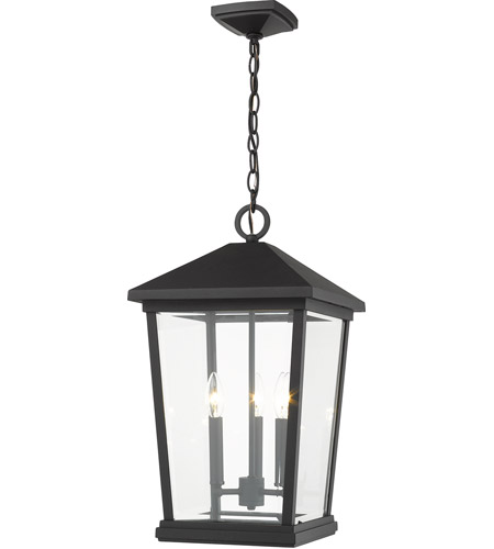 Z-Lite 568CHXL-BK Beacon 3 Light 12 inch Black Outdoor Pendant photo