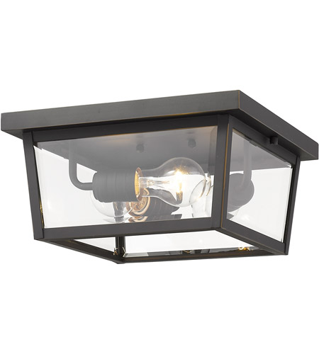Z-Lite 568F-ORB Beacon 3 Light 12 inch Oil Rubbed Bronze Outdoor Flush Mount photo