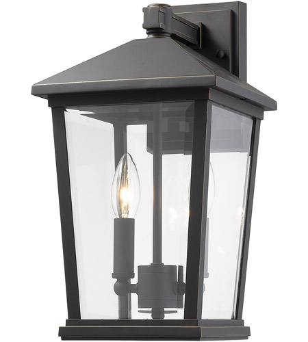 Z-Lite 568M-ORB Beacon 2 Light 15 inch Oil Rubbed Bronze Outdoor Wall Sconce photo