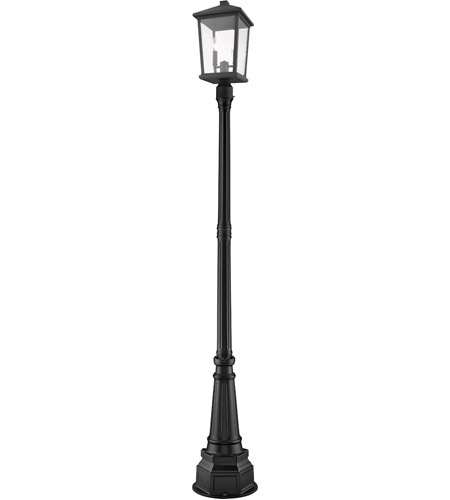 Z-Lite 568PHBR-564P-BK Beacon 2 Light 91 inch Black Outdoor Post Mount photo