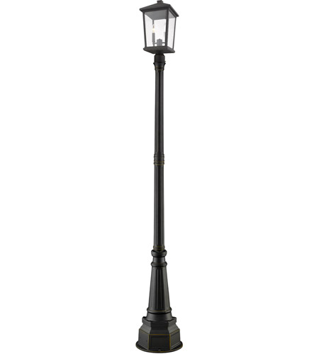 Z-Lite 568PHBR-564P-ORB Beacon 2 Light 91 inch Oil Rubbed Bronze Outdoor Post Mount photo