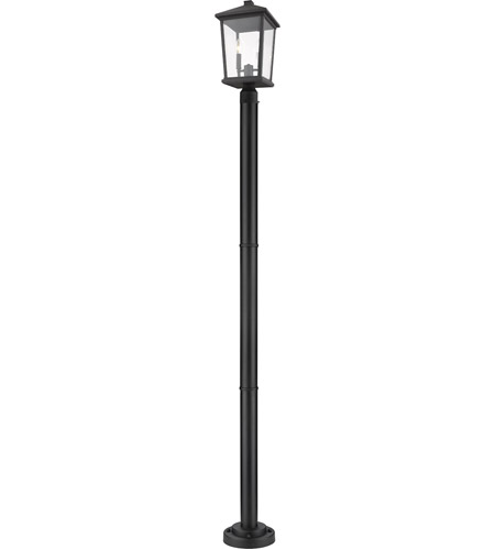 Z-Lite 568PHBR-567P-BK Beacon 2 Light 83 inch Black Outdoor Post Mount photo