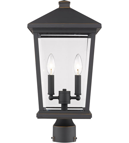 Z-Lite 568PHBR-ORB Beacon 2 Light 20 inch Oil Rubbed Bronze Outdoor Post Mount photo thumbnail