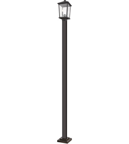Z-Lite 568PHBS-536P-ORB Beacon 2 Light 105 inch Oil Rubbed Bronze Outdoor Post Mount photo