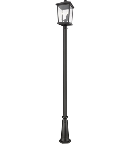 Z-Lite 568PHXLR-519P-BK Beacon 3 Light 106 inch Black Outdoor Post Mount photo