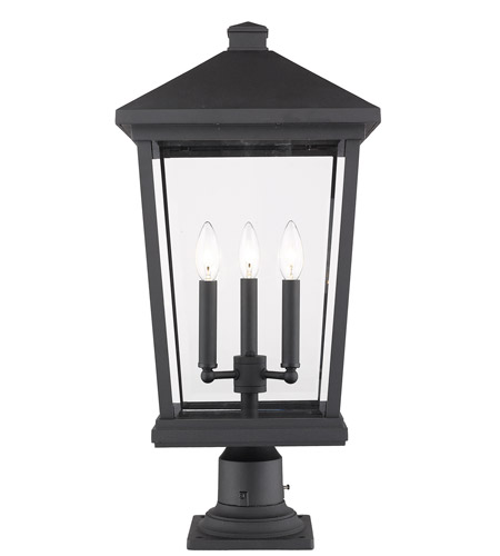 Z-Lite 568PHXLR-533PM-BK Beacon 3 Light 25 inch Black Outdoor Pier Mount photo