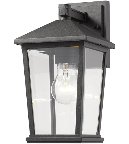 Z-Lite 568S-BK Beacon 1 Light 12 inch Black Outdoor Wall Sconce photo