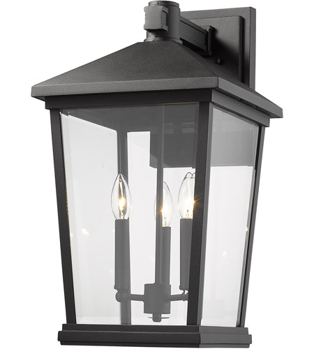 Z-Lite 568XL-BK Beacon 3 Light 23 inch Black Outdoor Wall Sconce photo