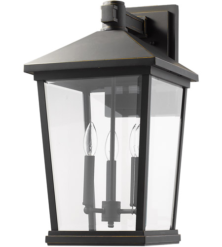 Z-Lite 568XL-ORB Beacon 3 Light 23 inch Oil Rubbed Bronze Outdoor Wall Sconce photo