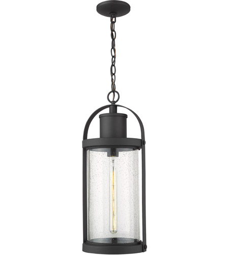 Z-Lite 569CHB-BK Roundhouse 1 Light 9 inch Black Outdoor Pendant photo