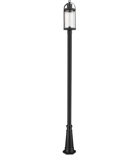 Z-Lite Black Aluminum Roundhouse Post Lights
