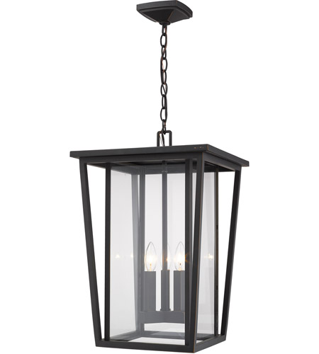 Z-Lite 571CHXL-ORB Seoul 3 Light 14 inch Oil Rubbed Bronze Outdoor Pendant photo
