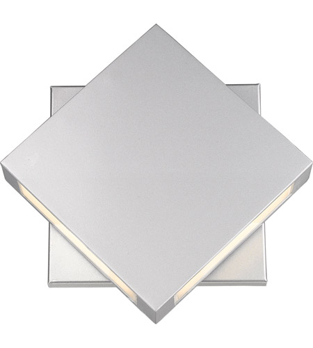 Z-Lite 572B-SL-LED Quadrate LED 11 inch Silver Outdoor Wall Sconce photo