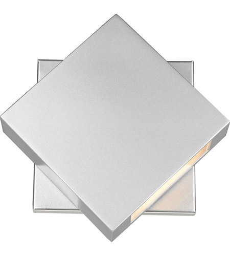 Z-Lite 573S-SL-LED Quadrate LED 9 inch Silver Outdoor Wall Sconce photo