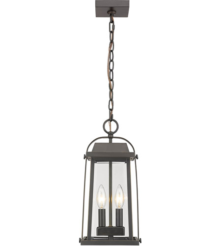 Z-Lite 574CHM-ORB Millworks 2 Light 8 inch Oil Rubbed Bronze Outdoor Pendant photo