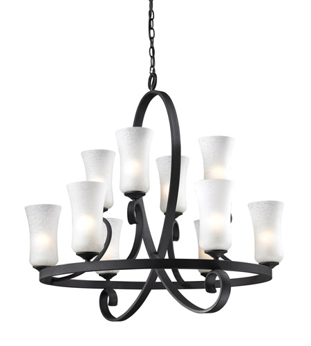 Z-Lite Arshe 10 Light Chandelier in Cafe Bronze 603-10 photo