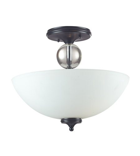 Z-Lite 604SF Harmony 3 Light 16 inch Matte Black Semi-Flush Mount Ceiling Light photo