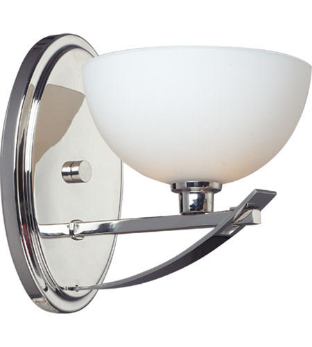 Z-Lite Ellipse 1 Light Wall Sconce in Chrome with Matte Opal Glass 605-1S photo