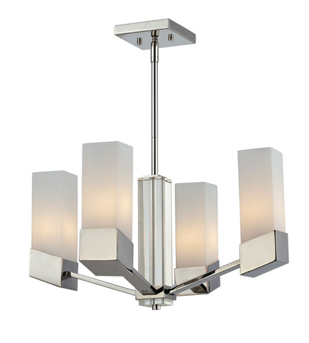 Z-Lite Zen 4 Light Chandelier in Chrome 607-4 photo