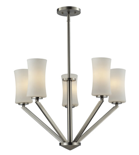 Z-Lite 609-5-BN Elite 5 Light 24 inch Brushed Nickel Chandelier Ceiling Light photo