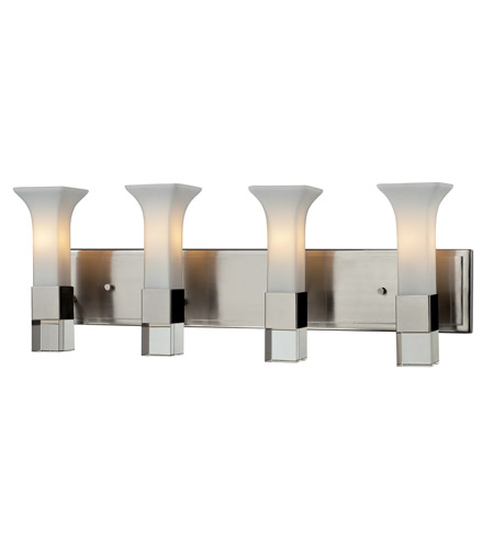 Z-Lite Lotus 4 Light Vanity in Brushed Nickel 610-4V-BN photo