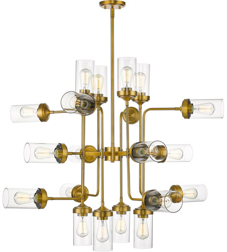 Z-Lite 617-20FB Calliope 20 Light 42 inch Foundry Brass Pendant Ceiling Light photo